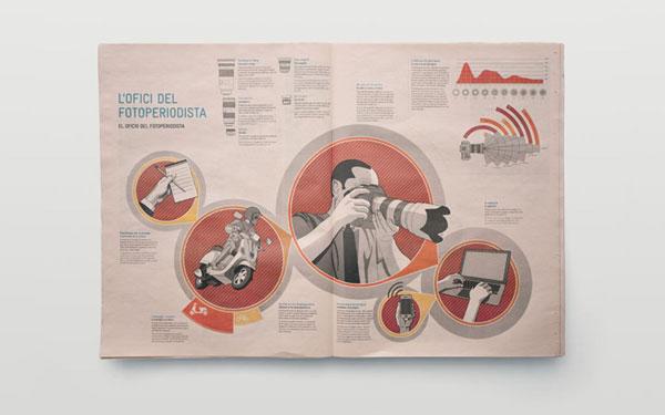 Photojournalists of Valencia Print Design Inspiration