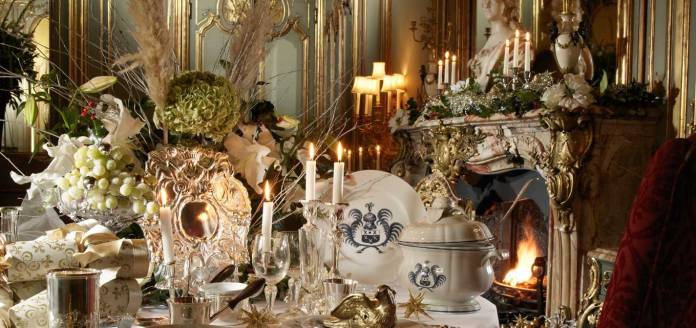 Cliveden Christmas Table Setting