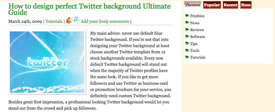 Twitter background design how-to