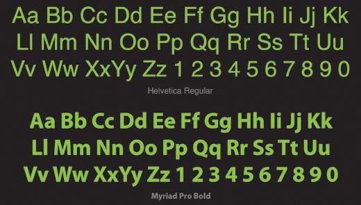 Sans Serif Typeface Example