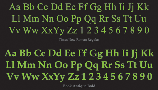 Serif Typeface Example