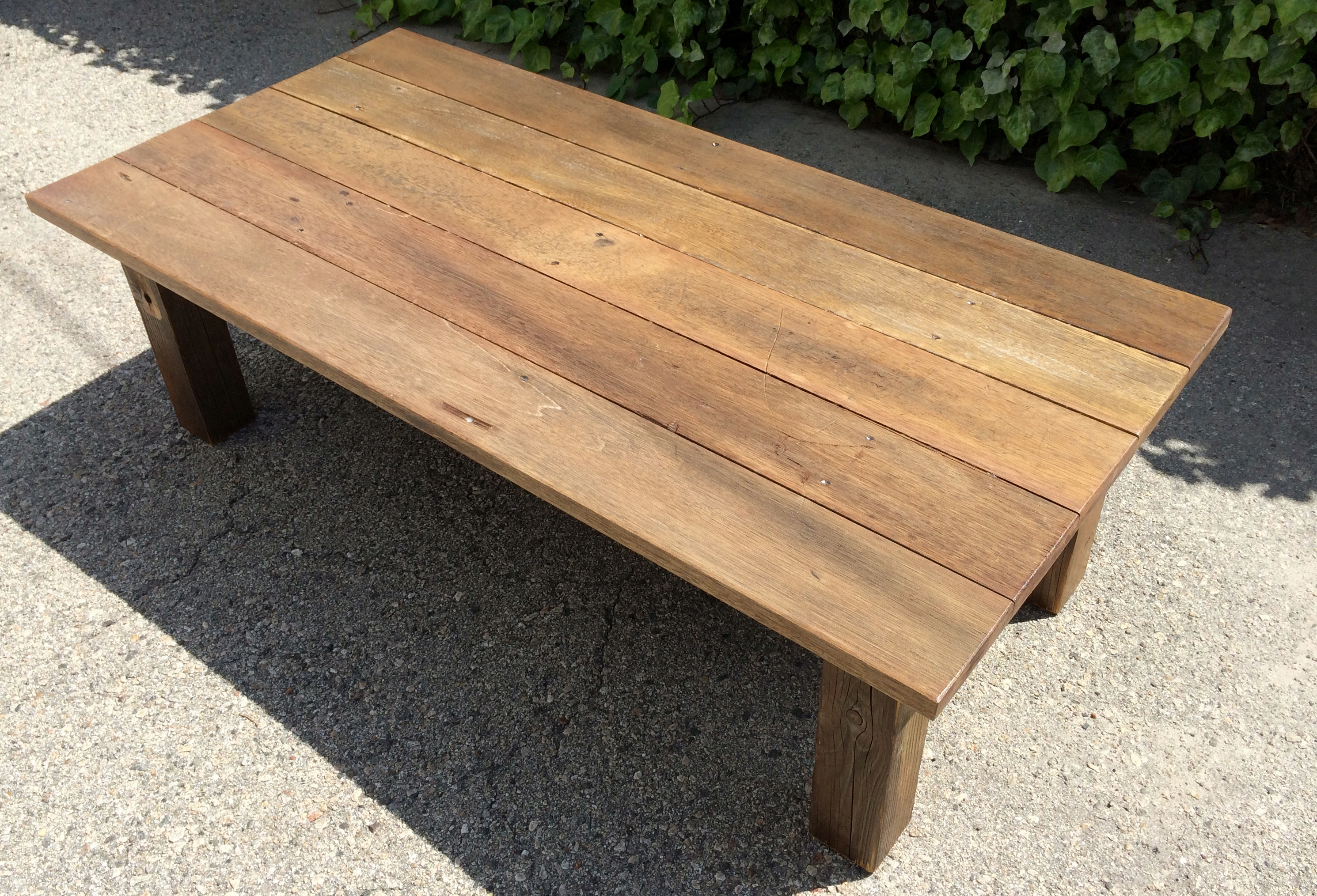 handcrafted reclaimed wood coffee table