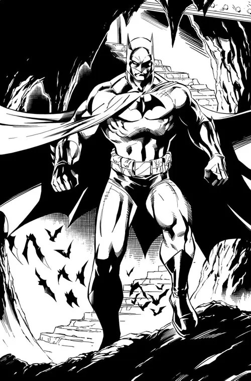 Batman Inks by JPRart