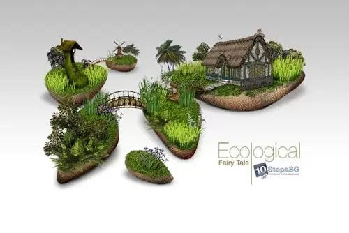 Creating an Ecological Fairy Tale Wallpaper