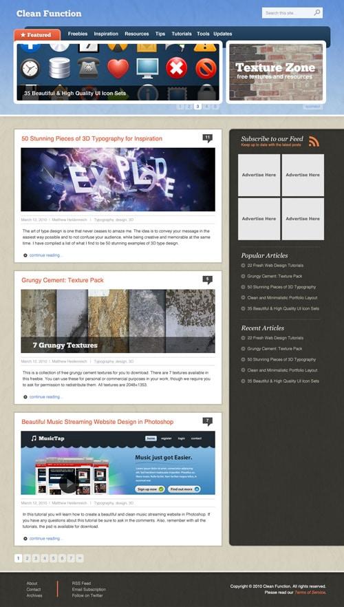 Clean Textured WordPress Style Layout in Photoshop