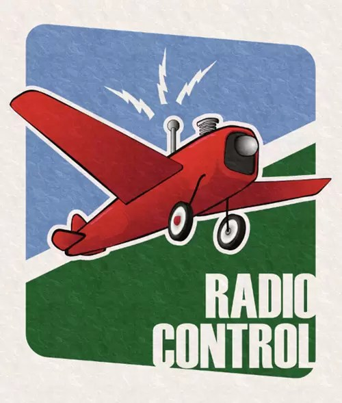 How to Make a Retro RC Airplane Poster