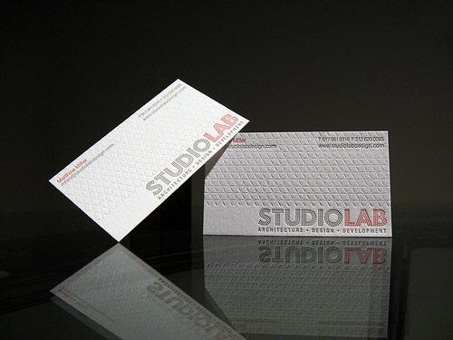 Studio Lab Design Letterpress Business Card