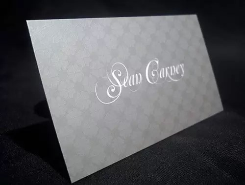 Metallic Silver Cards