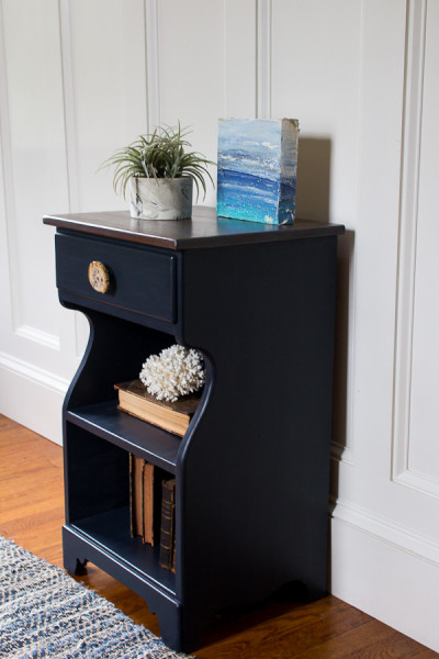 Charming Midnight Blue Nightstand General Finishes