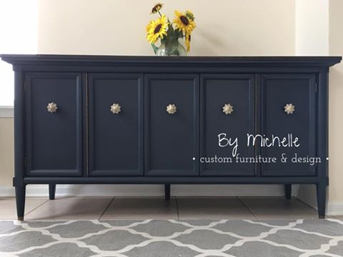 Darling Buffet In Midnight Blue Chalk Style Paint