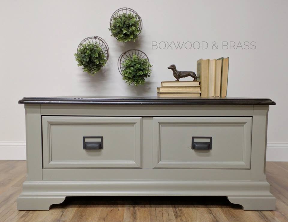 Coffee Table Sprayed In Empire Gray Chalk Style Paint General Finishes Design Center