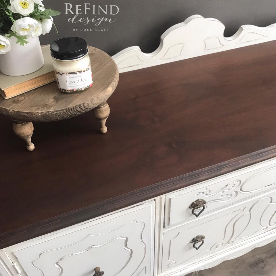 1920 S Buffet In Medium Brown Dye Stain General Finishes