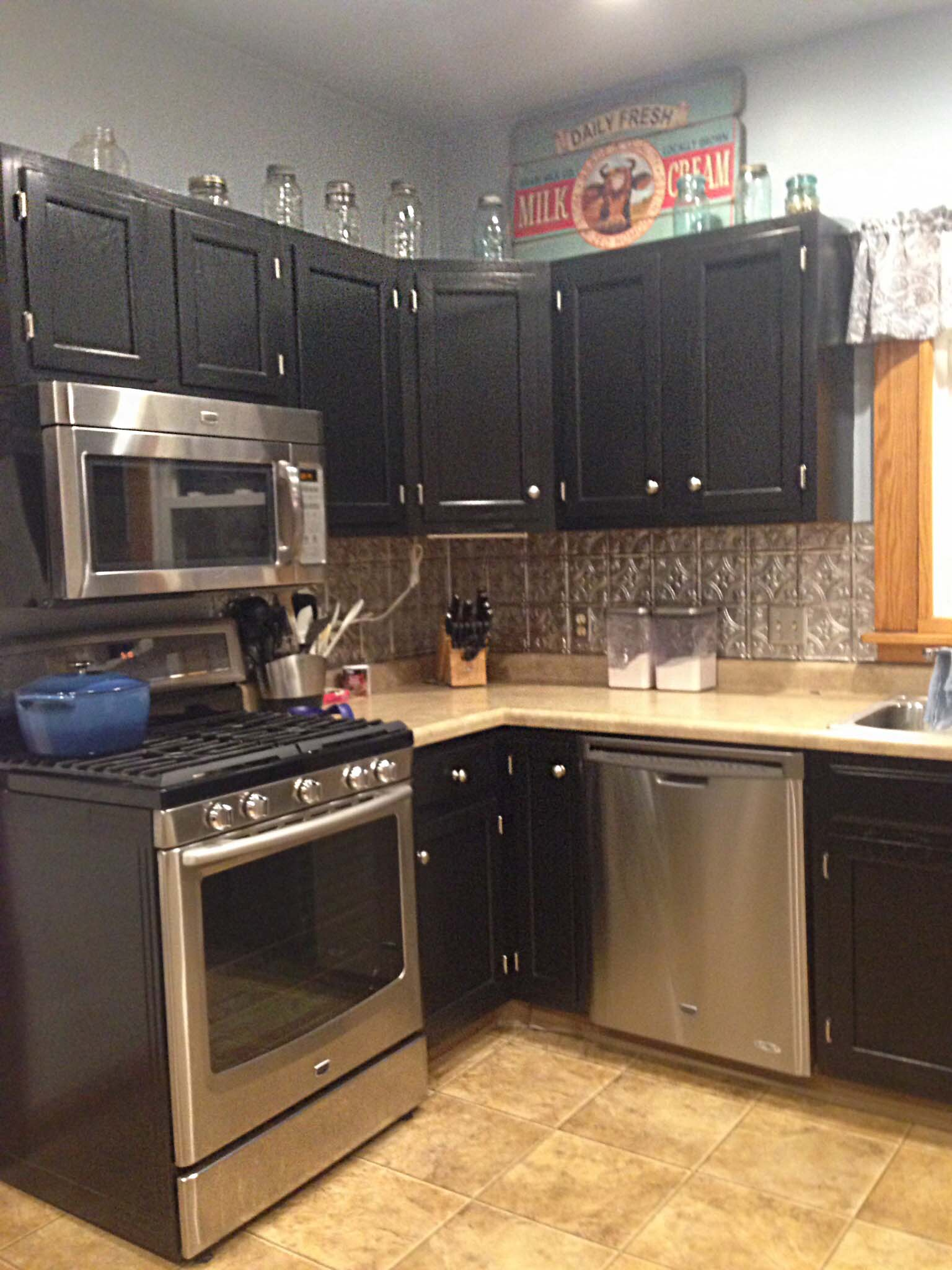 Kitchen Cabinets In Black Gel Stain General Finishes Design Center