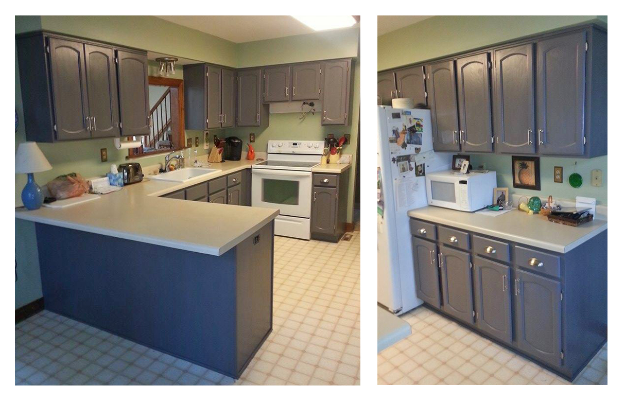 Best Kitchen Gallery: Kitchen Cabi S In Driftwood Gray Milk Paint Topped With High of General Finishes Milk Paint Kitchen Cabinets on rachelxblog.com