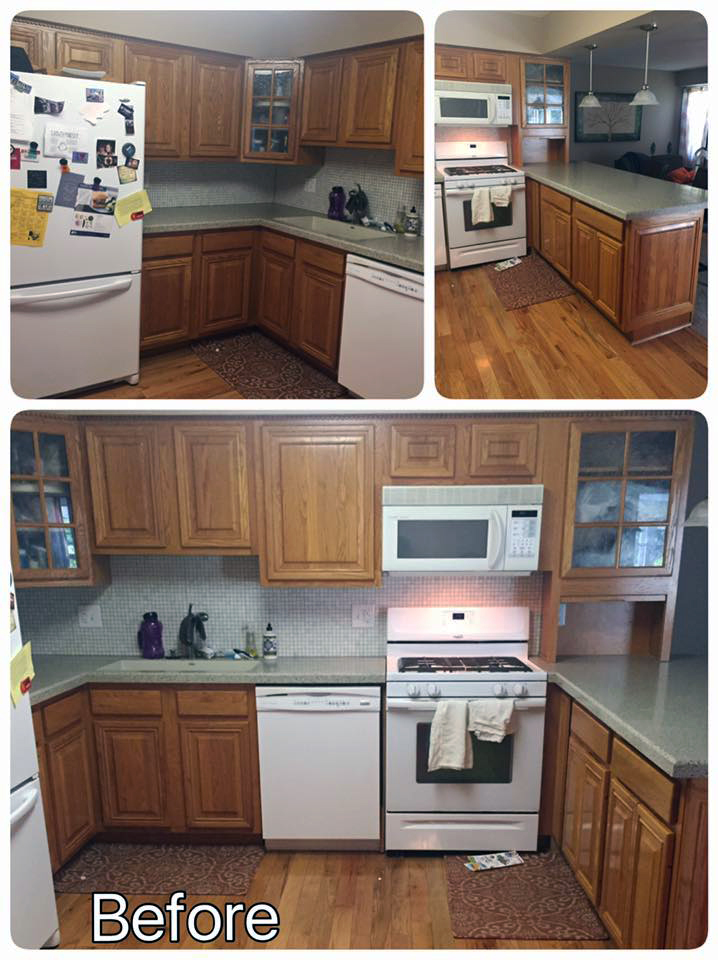 Yellow Dark Paint Kitchen