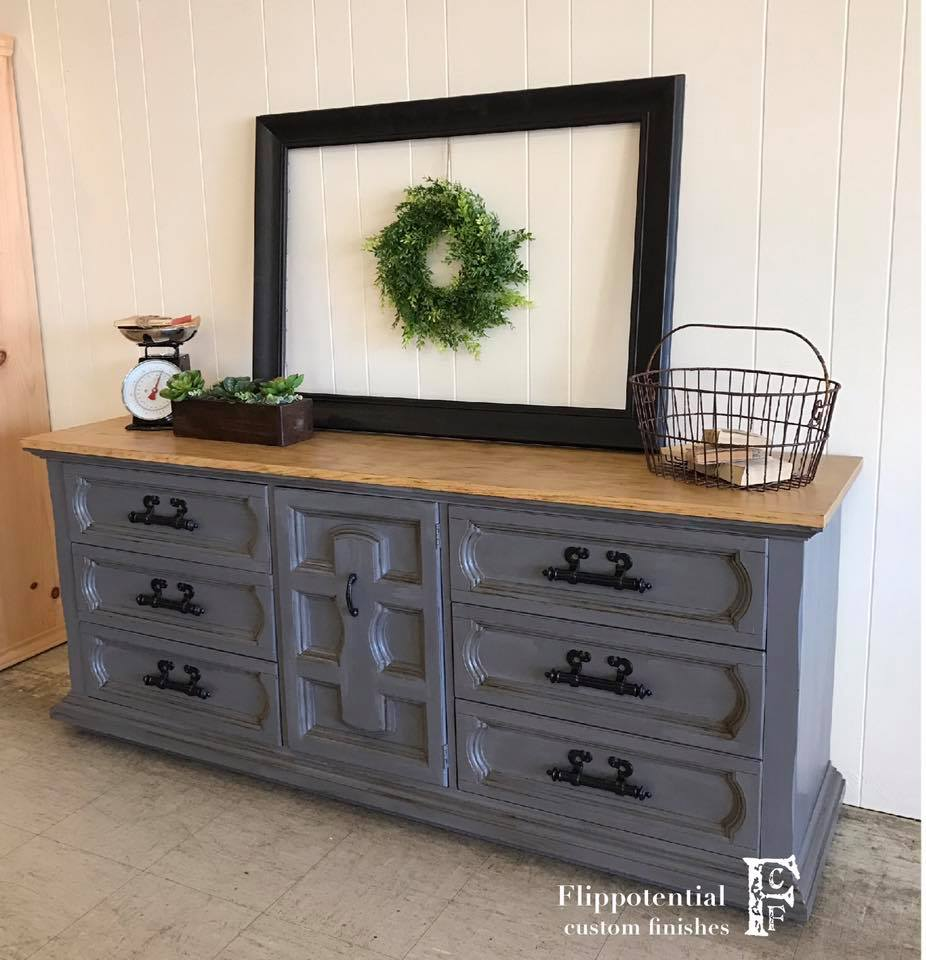 Dashing Buffet In Driftwood And Van Dyke Brown General