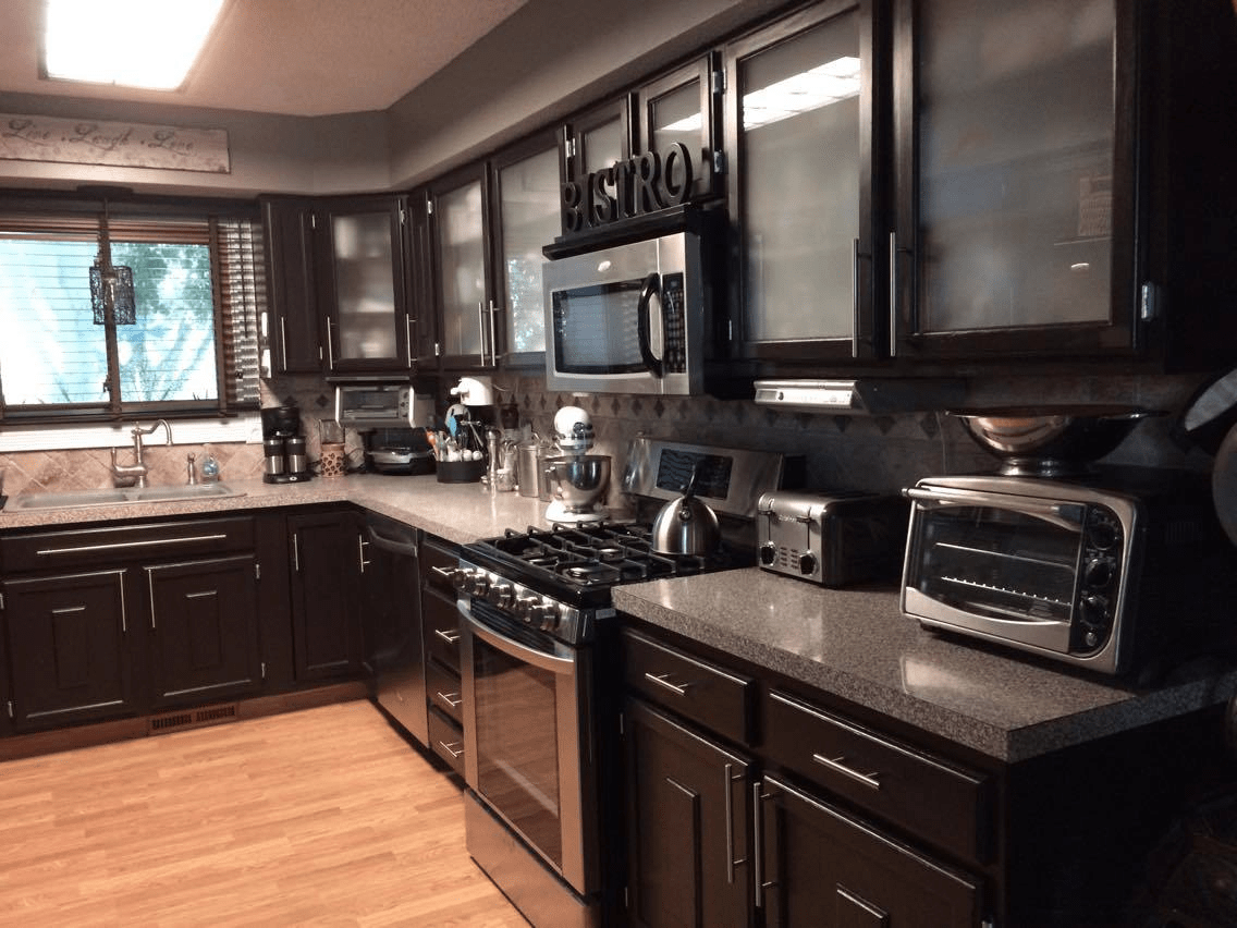 Kitchen Dark Paint Yellow