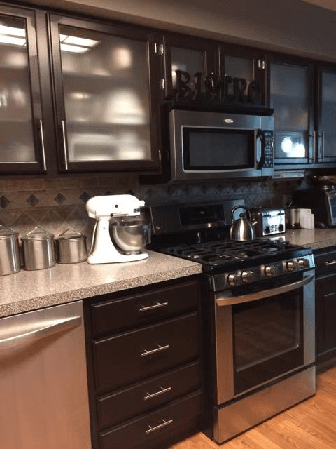 Kitchen Makeover In Dark Chocolate Milk Paint General