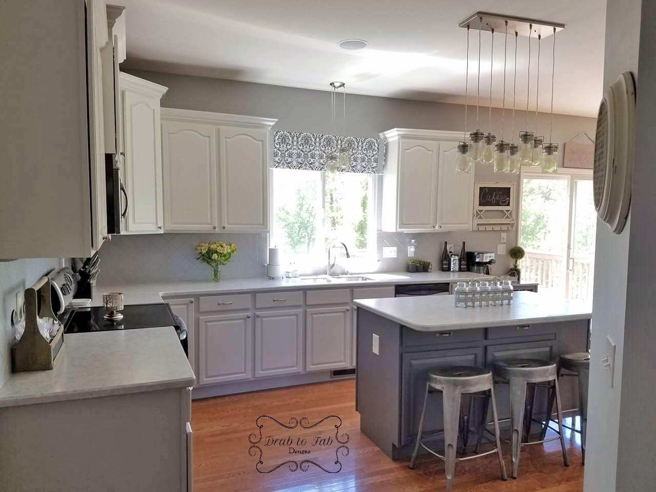 Farmhouse Grey And White Kitchen Cabinets Novocom Top