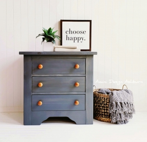 Gray Gel Stain Side Table