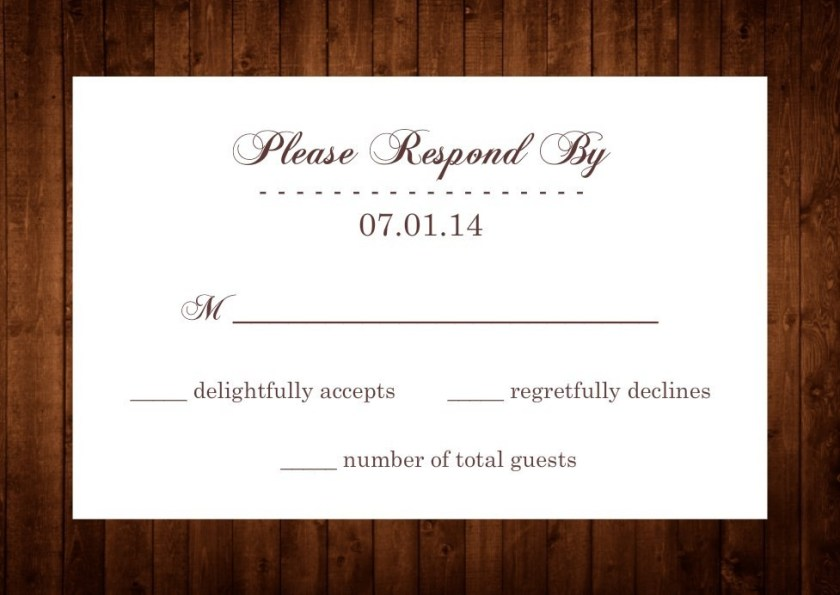 White And Brown Wood Grain Wedding Rsvp By Purpletrail