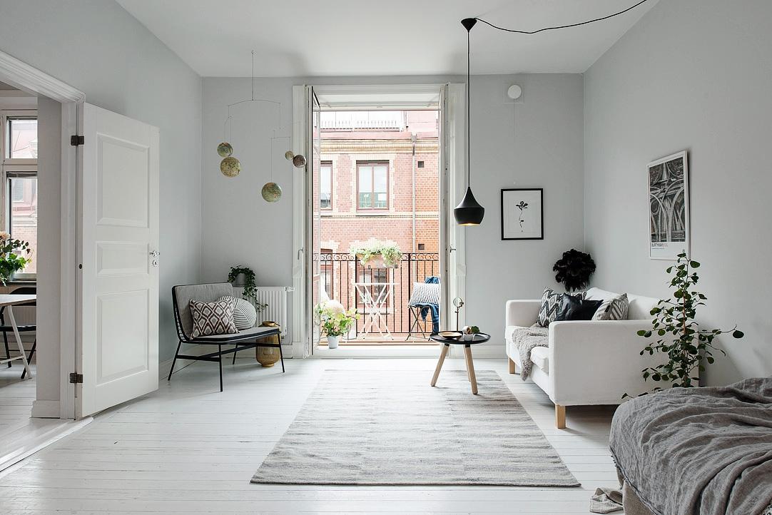 Design Inspiration - Kleine Wohnung in weiß grau Tönen - Designs2love