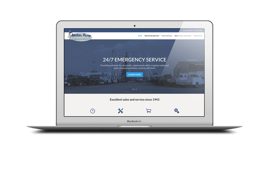 Willits Pump Website Design