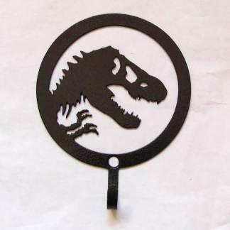 metal jurassic park dinosaur wall hook, jurassic park sign