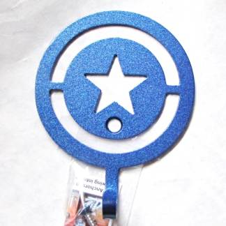 metal captain america wall hooks, captain america wall art