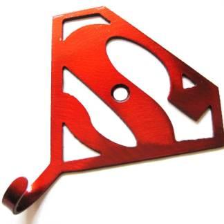 metal superman wall hook, superhero wall art