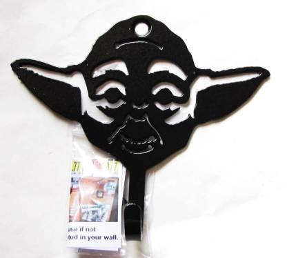 metal star wars yoda wall hook, yoda wall art