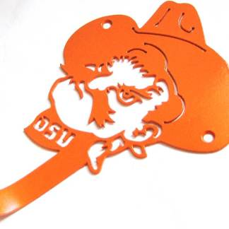 metal osu pistol pete wall hook, osu sign, osu wall art