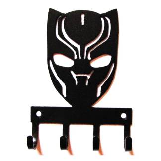 metal black panther wall hooks, superhero wall art
