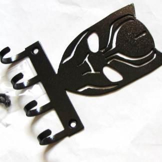 metal black panther wall hooks, superhero wall art