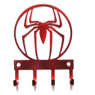 metal spiderman wall hooks, superhero wall art