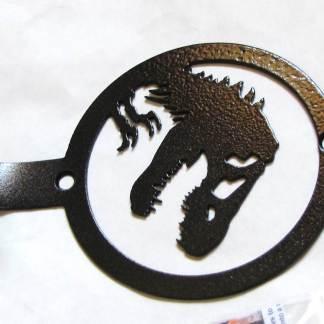 metal jurassic park dinosaur wall hook,