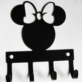 metal minnie mouse wall hooks, minnie inspired wall art