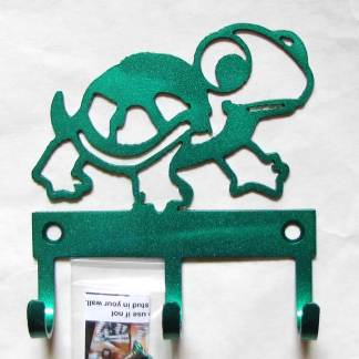 metal baby turtle wall hooks