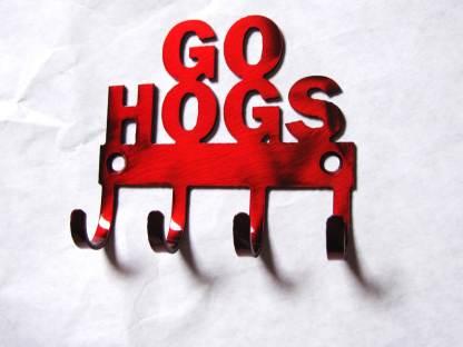 metal wall hooks arkansas razorbacks go hogs
