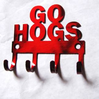 metal wall hooks arkansas razorbacks go hogs