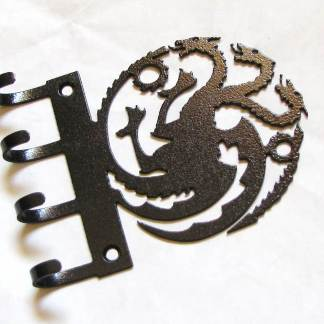 metal game of thrones dragons wall hooks