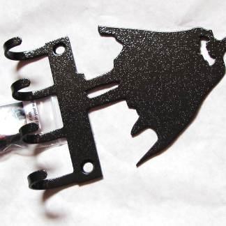 metal batman standing wall hooks