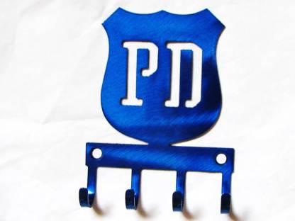 metal police badge wall hooks