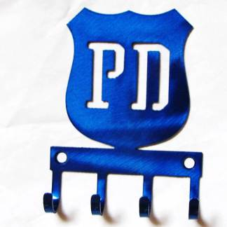 metal police badge wall hooks