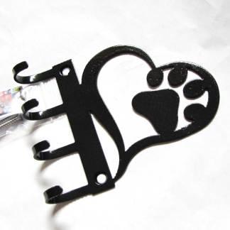metal heart paw wall hooks leash hooks