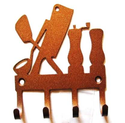 metal kitchen utensils wall hooks