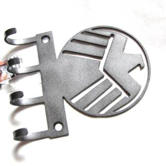metal agents of shield logo sign wall hooks