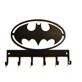 metal batman wall hooks, superhero wall art
