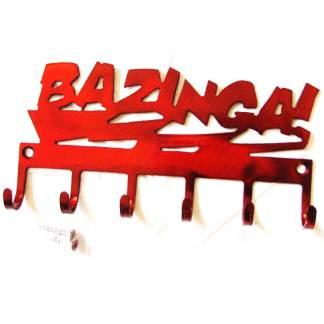 metal bazinga wall hooks, big bang theory