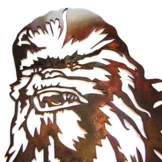 star wars chewbacca metal wall art